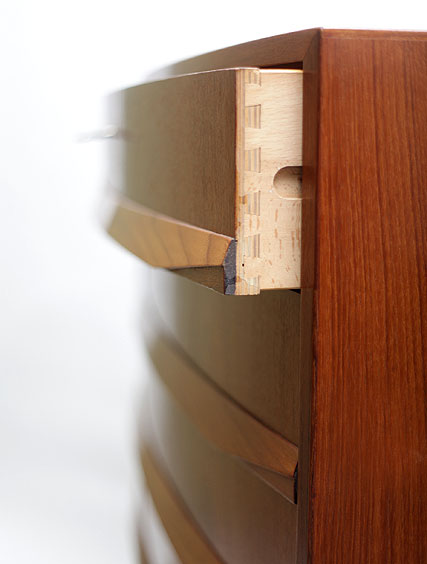 Bow Fronted – Teakwood Tallboy